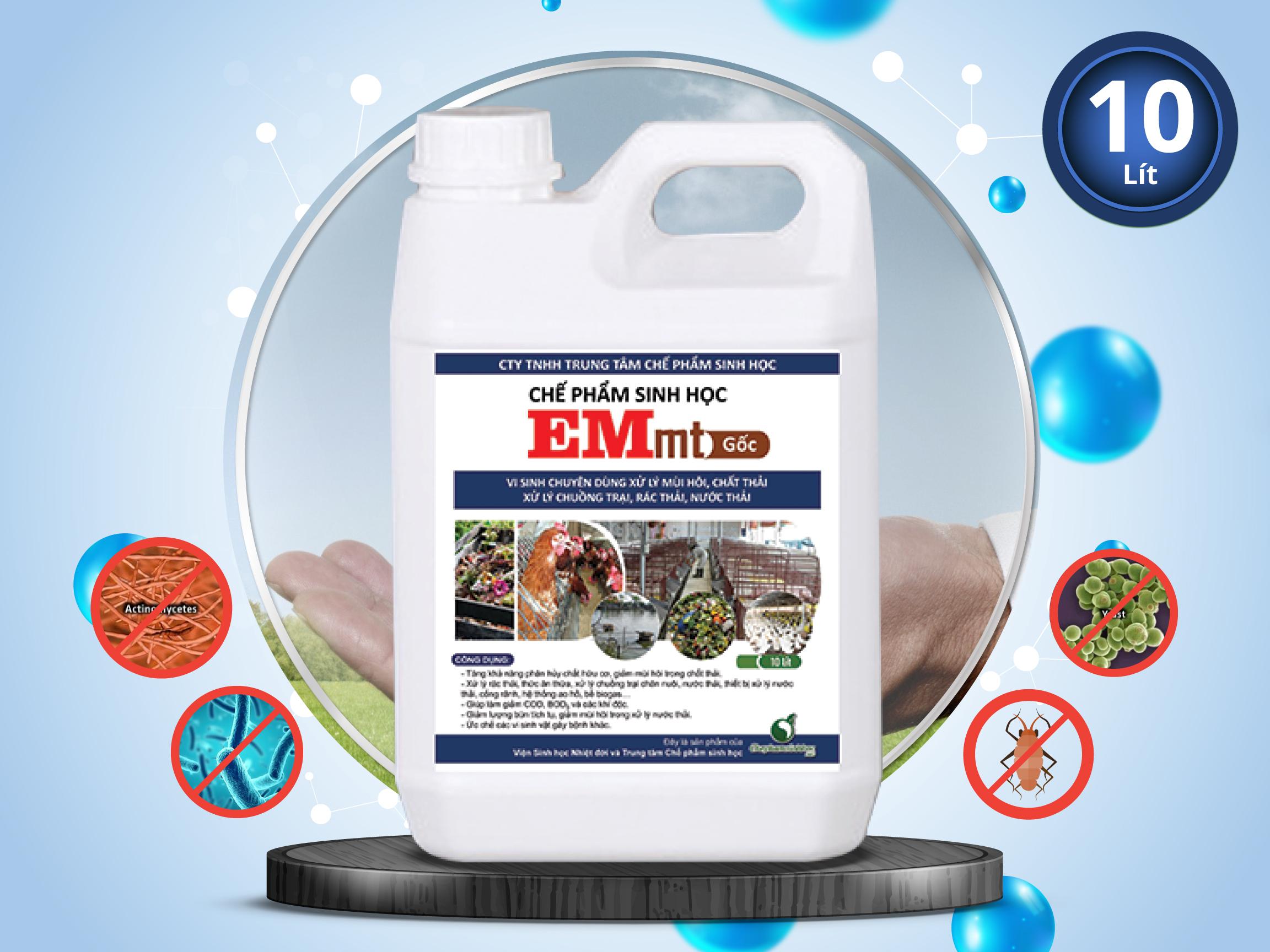 Chế phẩm EM gốc (VEM gốc) - Xử lý Môi trường (EMmt 10 lít)