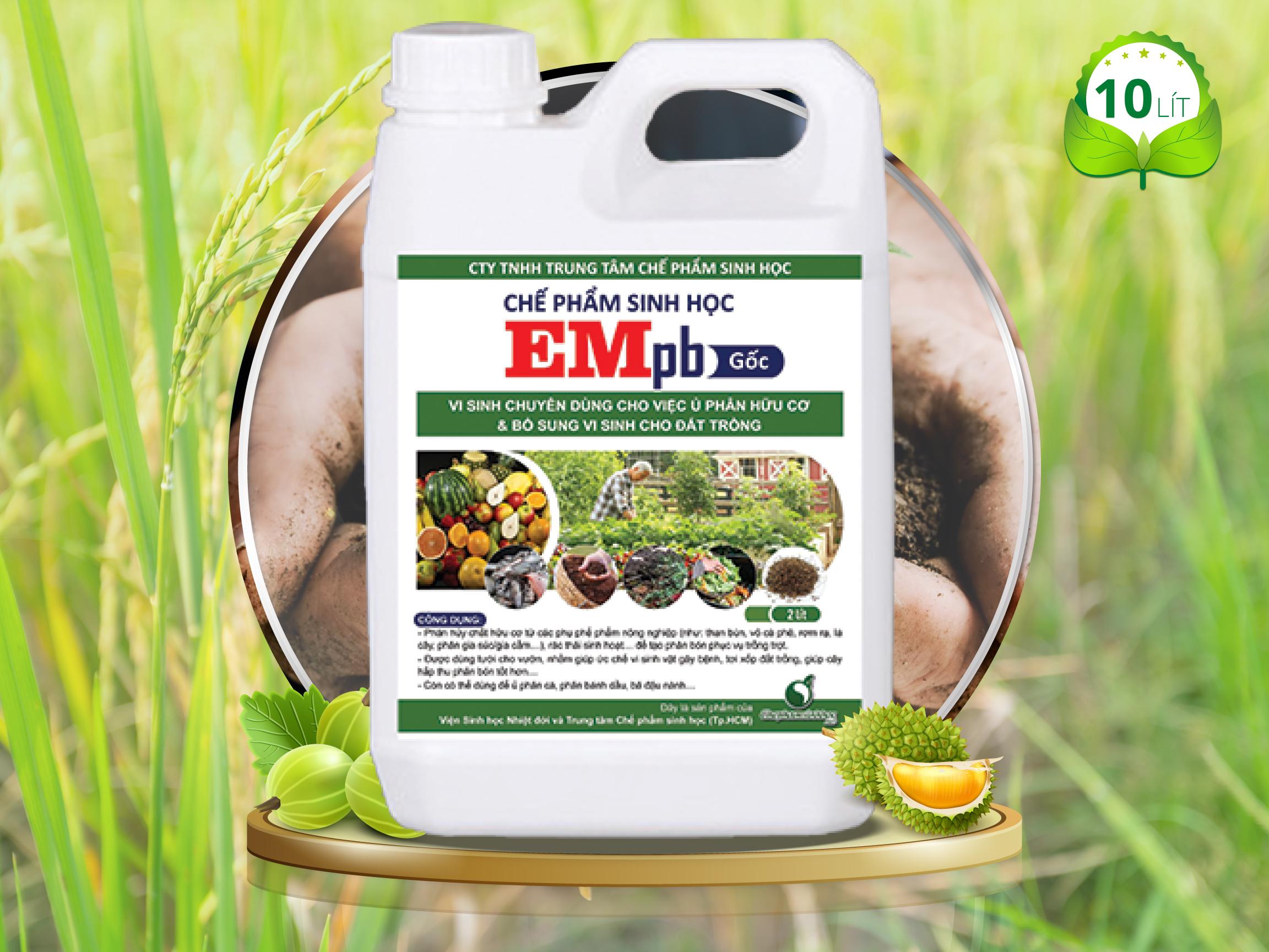 Chế phẩm EM gốc (VEM gốc) - Dùng cho Cây trồng (EMpb 10 lít)